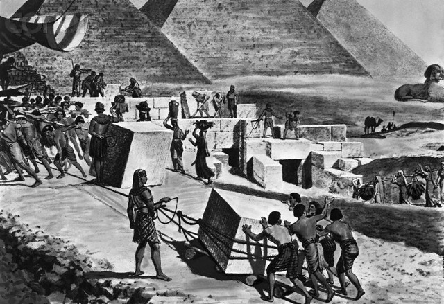 Original caption: Jewish people building the pyramids. BPA 2 #811 --- Image by © Corbis